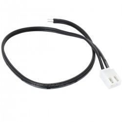 Câble XH 2.54mm Femelle vers Fils Nus 1 Connecteur 2 Pôles 20cm Noir (Unité)