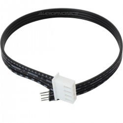 XH 2.54mm Female to Bare wire Cable 4 Poles 1 Connector Black 20cm (Unit)