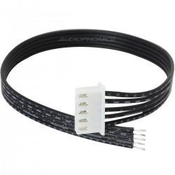 Câble XH 2.54mm Femelle vers fils nus 1 Connecteur 5 Pôles 20cm Noir (unité)