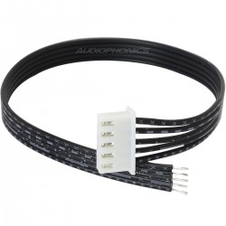 XH 2.54mm Female to Bare wire Cable 5 Poles 1 Connector Black 20cm (Unit)