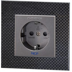 FURUTECH FT-SWS NCF (R) Rhodium plated Schuko Wall plate