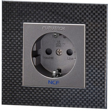 FURUTECH FT-SWS NCF plated Schuko Wall plate