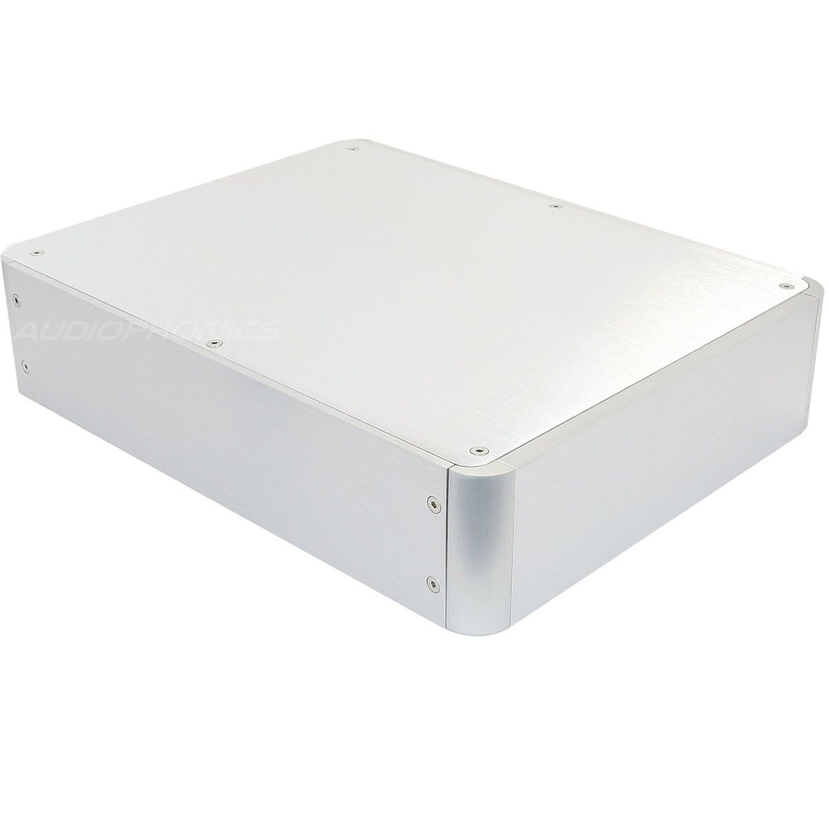 Boîtier DIY 100% Aluminium Angles Arrondis 272x212x60mm Argent