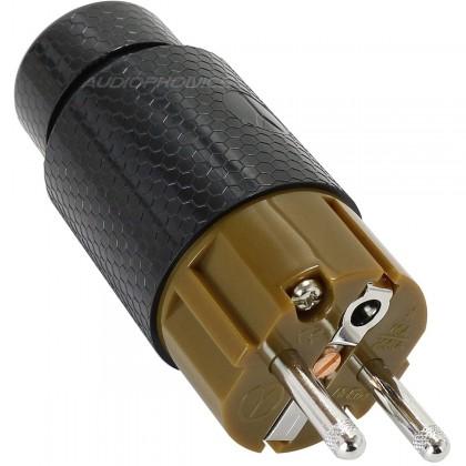 YARBO GY-901FP-R Connecteur Secteur Schuko Rhodium Ø 21mm