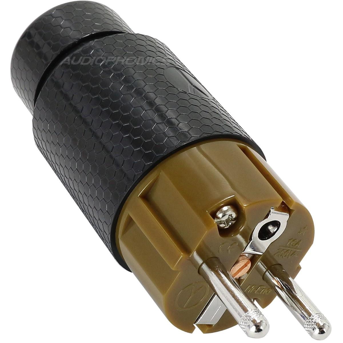 YARBO GY-901FP-R Connecteur Secteur Schuko Rhodium Ø 12.5mm