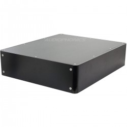 Boîtier DIY Angles Arrondis 100% Aluminum 380x320x90mm Noir