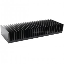 Heat Sink Radiator Black Anodized 299x114x48mm Black