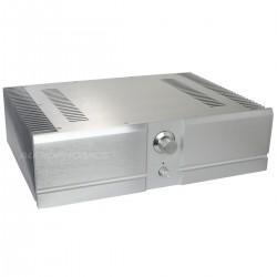 Boîtier DIY pour Amplificateur Pré-Percé 100% Aluminum 439x307x119mm Argent