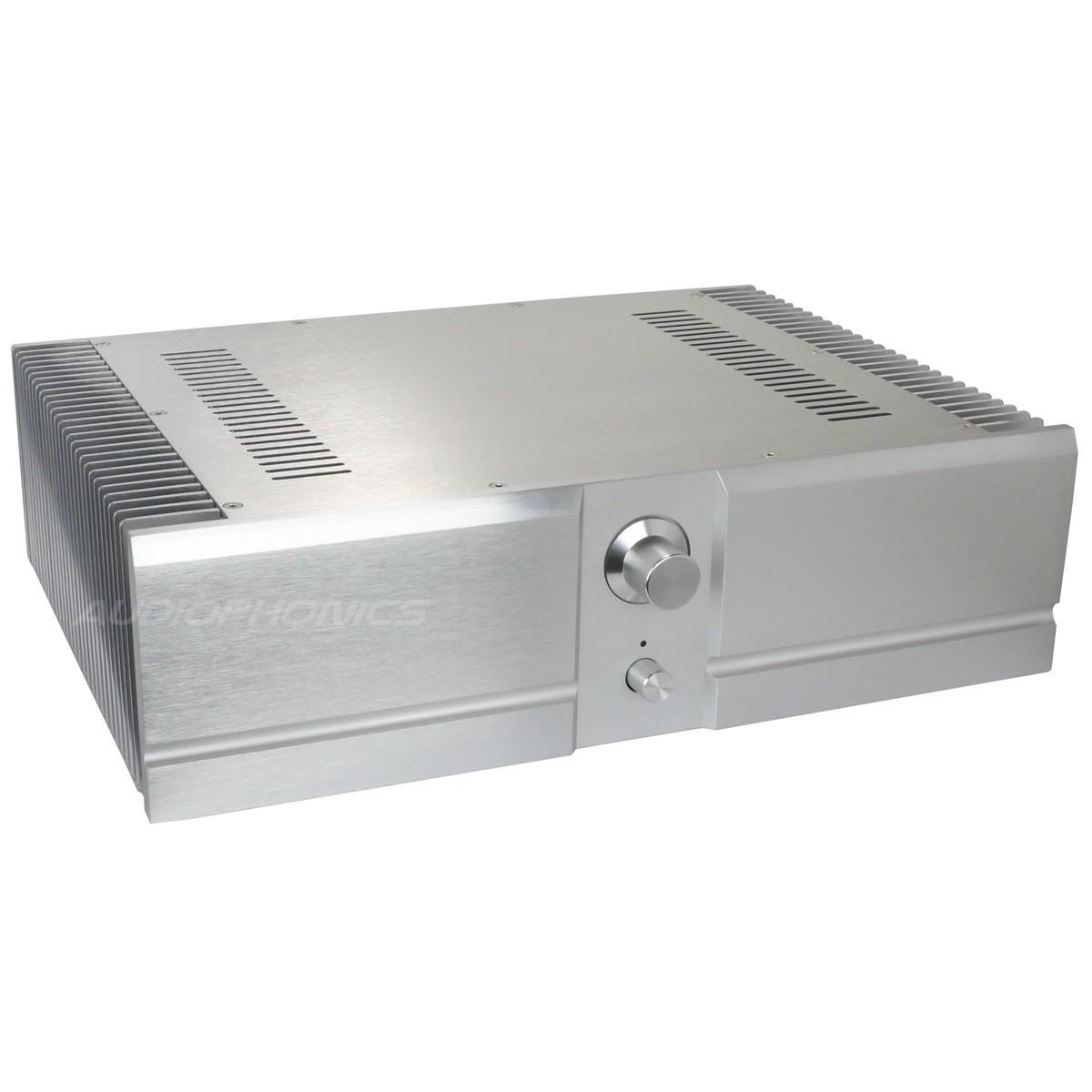 Boitier DIY 100% Aluminium pour amplificateur prépercé 439x307x119mm Argent