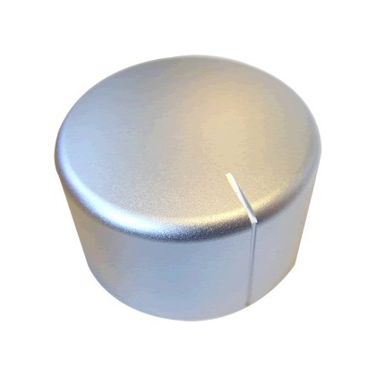 Bouton Aluminium Axe Méplat 40×28mm Ø6mm Argent