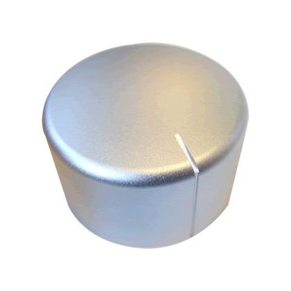 Knob Aluminum D Shaft 40×28mm Ø6mm Silver