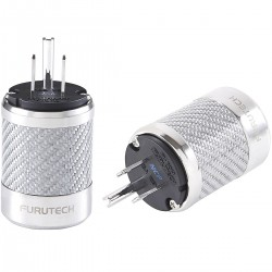 FURUTECH FI-50M NCF (R) Rhodium plated NEMA US Power plug Carbon Ø 20mm