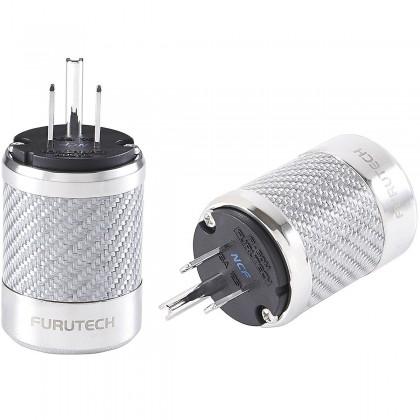 FURUTECH FI-50M NCF (R) Connecteur secteur US NEMA plaqué Rhodium Carbone Ø 20mm