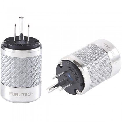 FURUTECH FI-50M NCF (R) Rhodium plated NEMA US Power plug Carbon Ø 20mm
