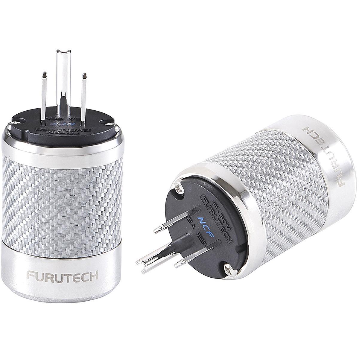 FURUTECH FI-50M NCF (R) Connecteur secteur US NEMA plaqué Rhodium Carbone