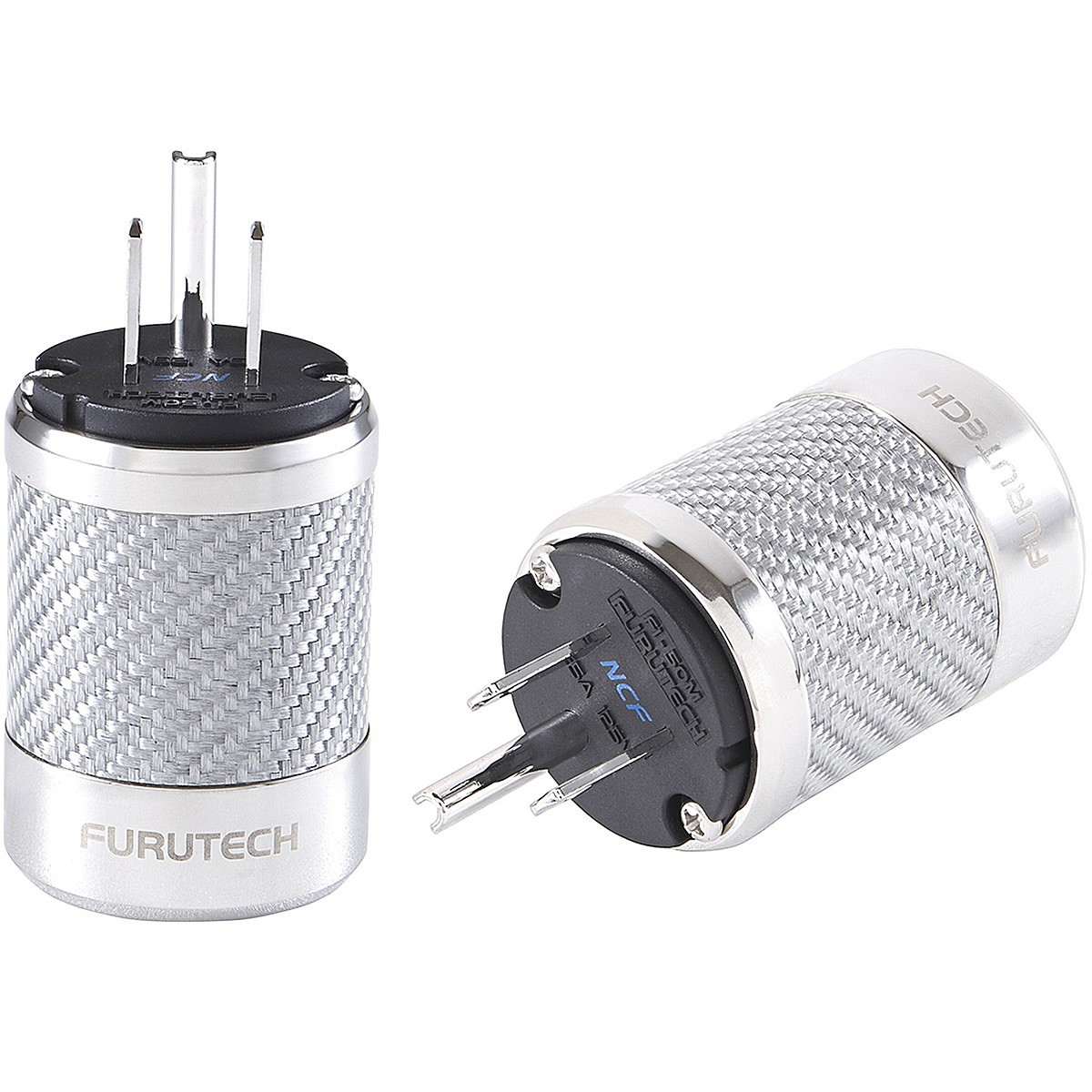 FURUTECH FI-50M NCF (R) Rhodium plated NEMA US Power plug Carbon