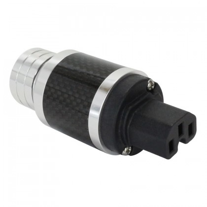 ELECAUDIO PI-26GC Prise Secteur IEC Carbone Or 24K 3µ Ø19.8mm