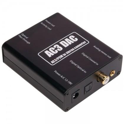AC3 DAC 24Bit/96khz Décodeur multicanal vers stéréo