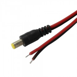 Power Cable Jack DC Male 5.5/2.1mm 1m