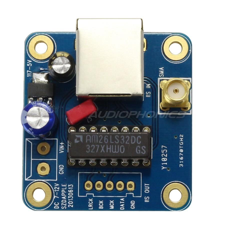 RJ45 Balanced I2S Input to Asymetrical I2S Output Module Board
