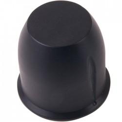 Aluminum Button 39 × 38mm Black Flat Axis Ø6mm