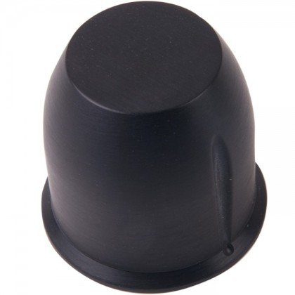 Bouton aluminium 39×38mm Noir Axe méplat Ø6mm