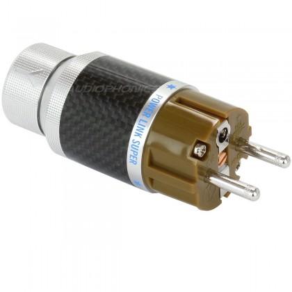 YARBO GY-903CF-R Connecteur Secteur Schuko Red Copper plaqué Rhodium Ø 15mm