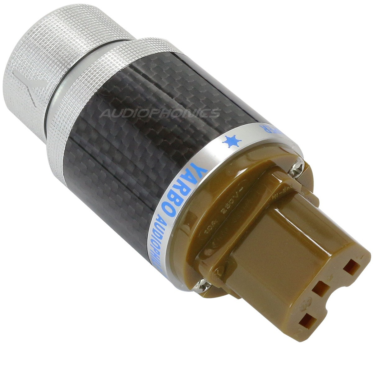 YARBO GY-910CF-R Connecteur secteur IEC Rhodium plated Ø 15mm