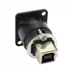 NEUTRIK NAUSB-WB Passe cloison USB A-B Noir