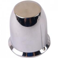 Bouton aluminium 29×30mm Chromé Axe méplat Ø6mm