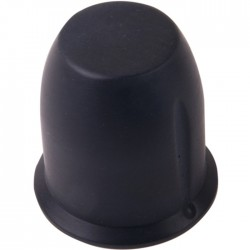 Bouton aluminium 29×30mm Noir Axe méplat Ø6mm