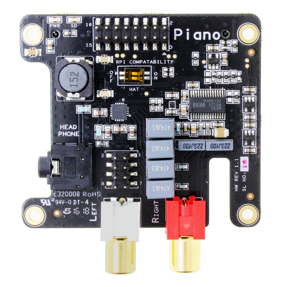 ALLO PIANO HIFI DAC PCM5122 32Bit/384kHz / Amplificateur casque TPA6133A2
