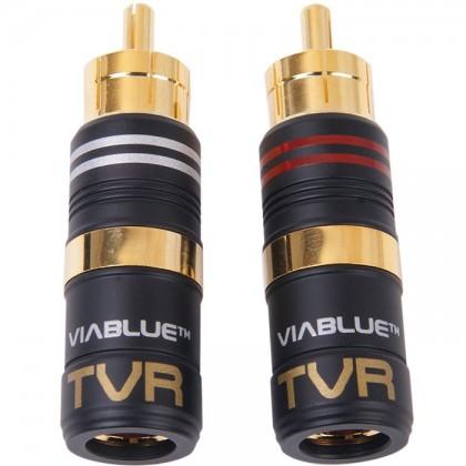 Viablue TVR Connecteurs RCA plaqué Or (La paire) Ø 8mm