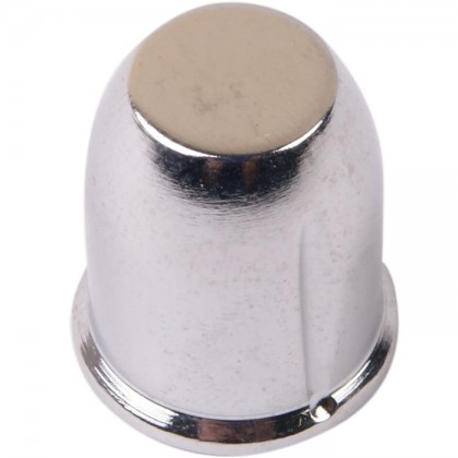 Bouton Aluminium Axe Méplat 18×21mm Ø6mm Chrome