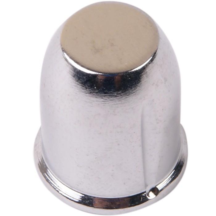 Bouton aluminium 18×21mm Chromé Axe méplat Ø6mm