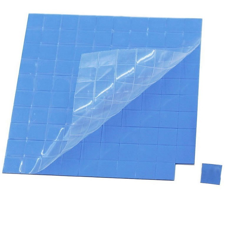Pad thermique silicone 10x10x1.5mm (x5)
