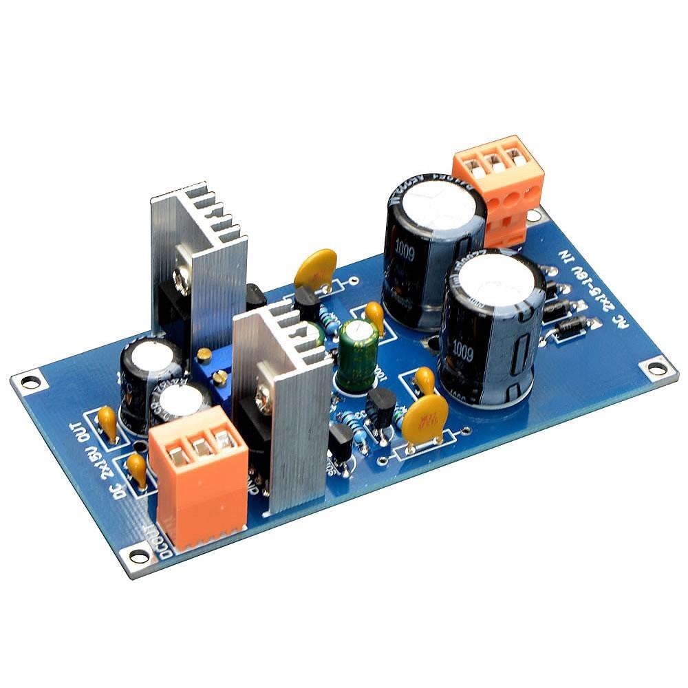 Kit DIY Module d'Alimentation double régulée discret AC 2X 9-17V DC 2X 6-18V
