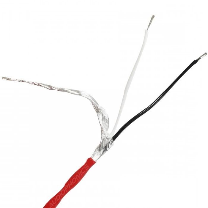 Câble Modulation Cuivre OFC Plaqué Argent Blindé Haute Pureté Rouge PTFE Ø3.8mm