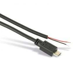 Câble d'alimentation Micro USB mâle vers fils nus Raspberry Pi 24AWG 20cm