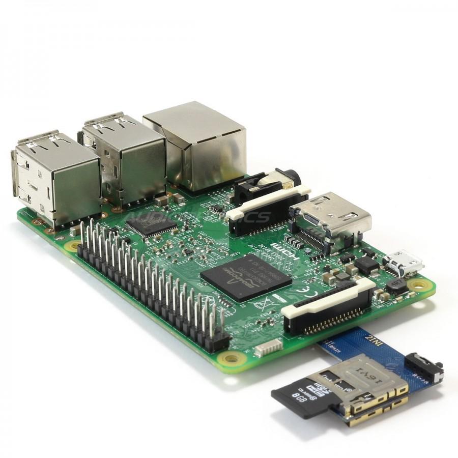 carte sd raspberry pi 3 Doubleur de carte Micro SD pour Raspberry Pi 4 / Pi 3 / Pi 2 et