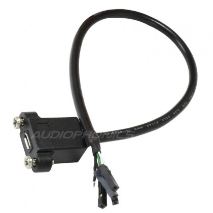 Passe cloison micro USB-B femelle vers connecteurs femelles 30cm