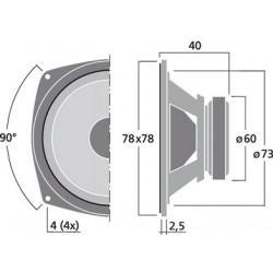 MONACOR SP-30 Full Range Loudspeakers 8cm