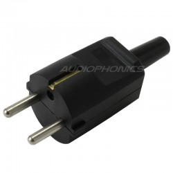 SCHUKO Connector Black 250V 16A Ø8mm