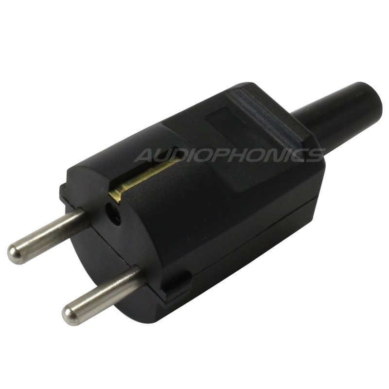 SCHUKO Connector Black 250V 16A Ø 8mm