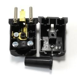 Connecteur SCHUKO Noir 250V 16A Ø 8mm