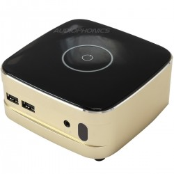 Boitier Aluminium pour Raspberry PI avec SPDIF / mSata SSD / IR / Wifi Gold