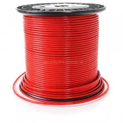 ELECAUDIO FC125TC Fil de Câblage Cuivre OCC PTFE/PVC 2.5mm² (Rouge)