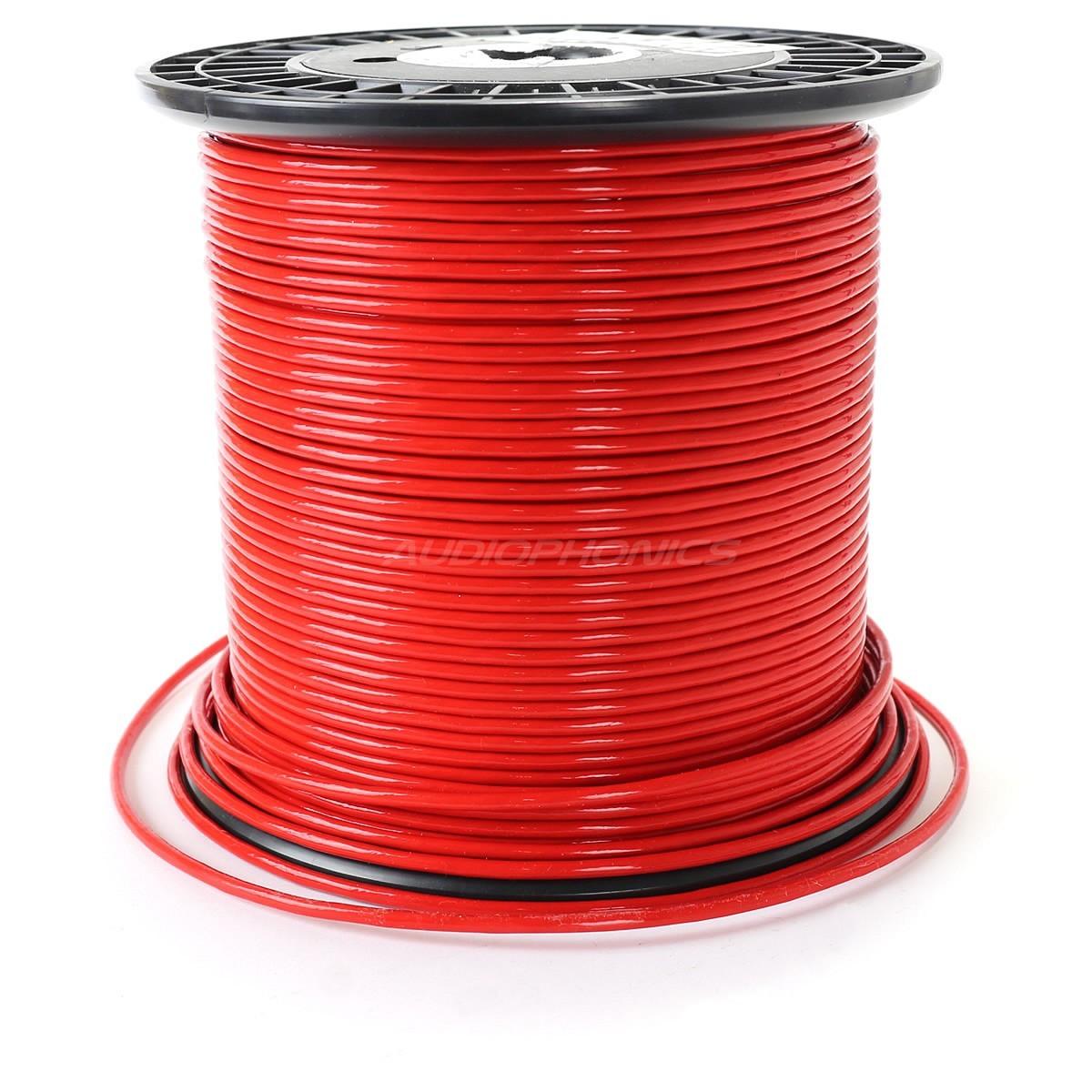 ELECAUDIO FC125TC Fil de Câblage Cuivre OCC FEP 2.5mm² (Rouge)