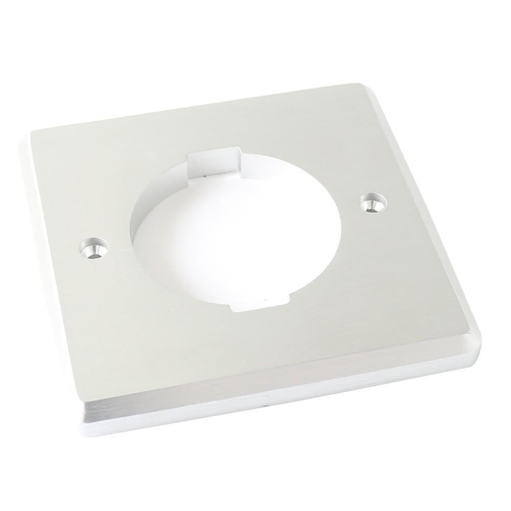 Wall plate Aluminum base Schuko for FURUTECH FI-E30 Silver
