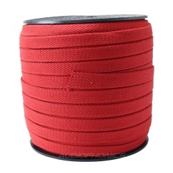 Coton natural Sleeve for cable Ø10-14mm Red